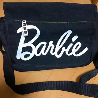 バービー(Barbie)のBarbie ショルダーバック ブラック ピンク(ショルダーバッグ)