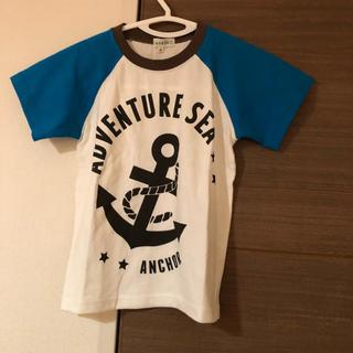 サンカンシオン(3can4on)の【新品】3can4onマリン柄アンカー袖切り返しTシャツ(Tシャツ/カットソー)