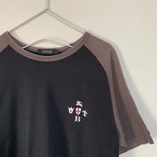 バーバリーブラックレーベル(BURBERRY BLACK LABEL)の古着  BURBERRY BLACK LABEL 半袖Tシャツ 黒(Tシャツ/カットソー(半袖/袖なし))