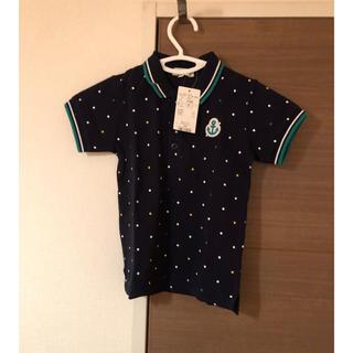 サンカンシオン(3can4on)の【新品】3can4onドット柄ポロシャツ100cm(Tシャツ/カットソー)