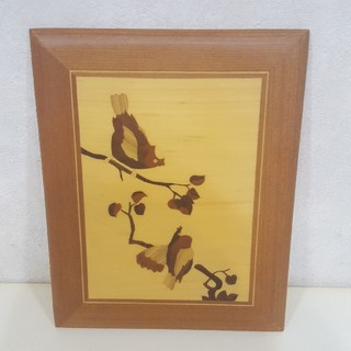 壁掛け 鳥 木 ベトナム土産(その他)