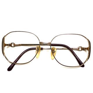 サンローラン(Saint Laurent)のYVES SAINT LAURENT ゴールドフレーム 伊達眼鏡 ティアドロップ(サングラス/メガネ)