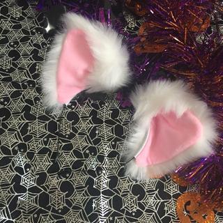 白 猫耳 仮装 ふわふわ コスチューム カチューシャ 小道具 変身 衣装(小道具)