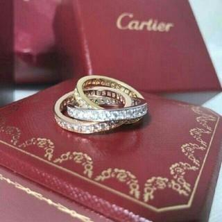 カルティエ(Cartier)の本物!カルティエ トリニティ スリーカラー 3連リング(リング(指輪))