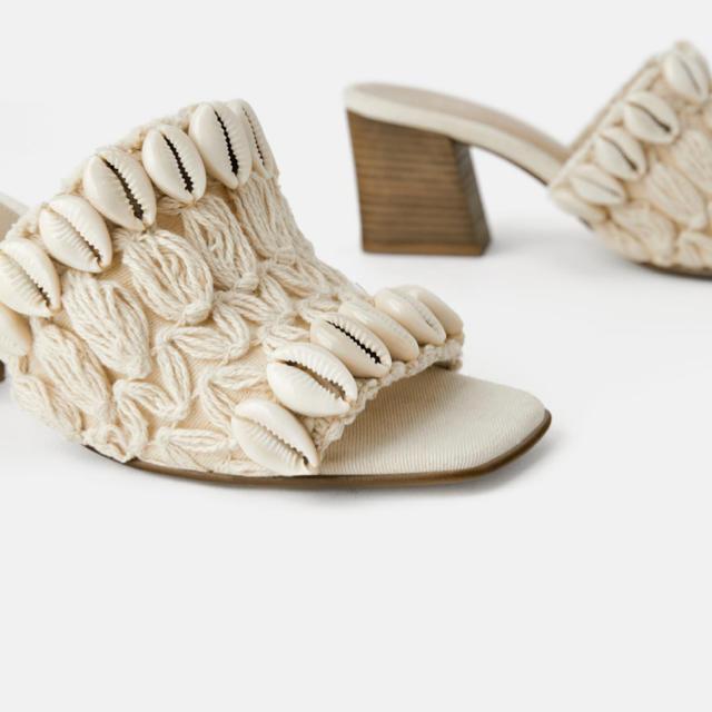 SeaRoomlynn(シールームリン)のシェル付きミュール レディースの靴/シューズ(ミュール)の商品写真