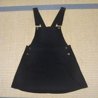 GU - Lサイズ  GU 黒 サロペットスカート