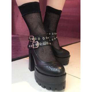 バブルス(Bubbles)のBUBBLES 厚底 ダブルハドメシューズ(ローファー/革靴)