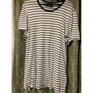 サンローラン(Saint Laurent)のAMIRI  クラッシュボーダーTシャツ(Tシャツ/カットソー(半袖/袖なし))
