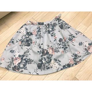 イートミー(EATME)のeatme*くすみカラーお花スカート(ミニスカート)