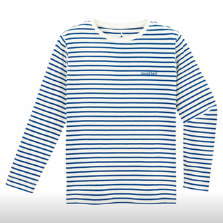 モンベル(mont bell)のモンベル  ボーダーロングTシャツ 160 キッズ(Tシャツ(長袖/七分))