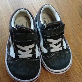 VANS - 16センチ VANS バンズ オールドスクール 靴 スニーカー 黒