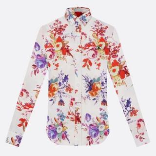 ディオールオム(DIOR HOMME)の【DIOR HOMME】19SS ディオールオム シルクシャツ 花柄ロゴプリント(シャツ)