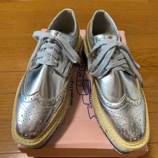 厚底オックスフォード(ローファー/革靴)