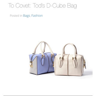 "TOD'S - ""TOD'S"" トッズ D cube bag Dバッグ"