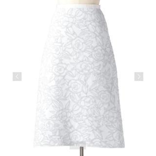 ドゥロワー(Drawer)の2019SS 今季 Drawer ドゥロワー フクレジャガードニットスカート 1(ひざ丈スカート)