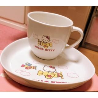 ハローキティ - 【非売品】ハローキティ カップ&トレイ 2個セット