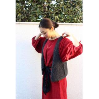 Hug O War - 雅姫着用 ハグオーワー リネン ベルテッド ロング ワンピース