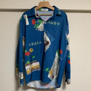 ZARA - ビッグシルエット メンズ シャツ  柄シャツ プリントシャツ