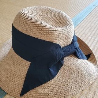 ジーユー(GU)のリボン付き麦わら帽子(麦わら帽子/ストローハット)