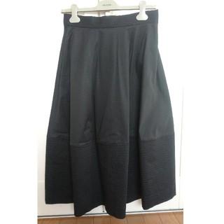 ドゥロワー(Drawer)のCOS裾ステッチフレアスカート36ドゥロワーblaminkebureADORE(ひざ丈スカート)