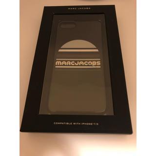 マークジェイコブス(MARC JACOBS)の★新品未使用★マークジェイコブス iphone7&8 ブラック 黒 ロゴ(iPhoneケース)