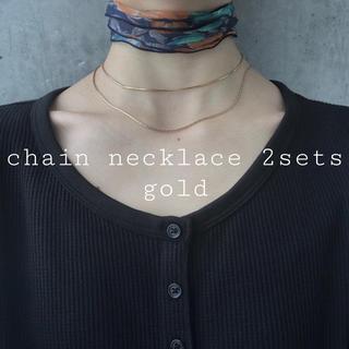 アメリヴィンテージ(Ameri VINTAGE)の再入荷 chain necklace 2sets gold(ネックレス)