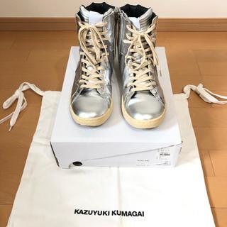 カズユキクマガイアタッチメント(KAZUYUKI KUMAGAI ATTACHMENT)の値下げ❗️KAZUYUKI KUMAGAI ×WHITE FLAGSスニーカー(スニーカー)