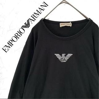 エンポリオアルマーニ(Emporio Armani)のエンポリオアルマーニ ロゴ刺繍 ロンT メンズS 長袖 Tシャツ(Tシャツ/カットソー(七分/長袖))