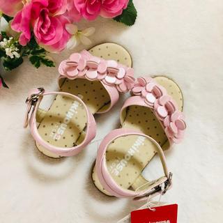 【新品】ミキハウス ピンクのサンダル 15