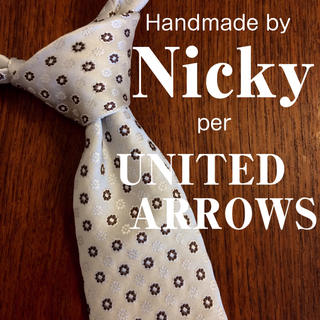 UNITED ARROWS - 《Nicky (ニッキー)》UNITED ARROWS別注 小紋柄ネクタイ