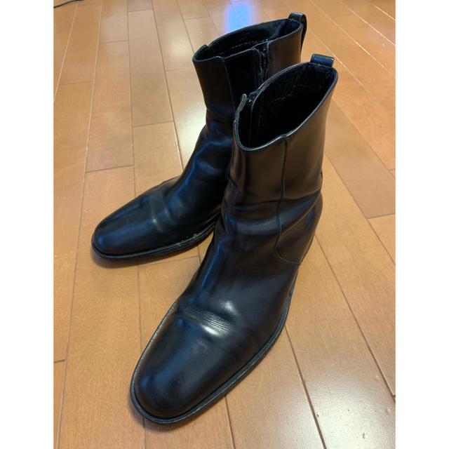 Gucci(グッチ)のGUCCI【17万円 グッチジップアップブーツ】ヒールアップ、耐久加工オーダー品 メンズの靴/シューズ(ブーツ)の商品写真