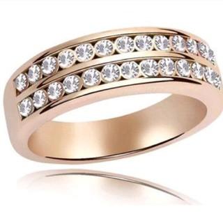 2ラインの ゴールド デザイン リング(リング(指輪))