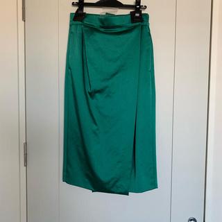 ドゥロワー(Drawer)のBLAMINK ラップスカート ケリー(ひざ丈スカート)