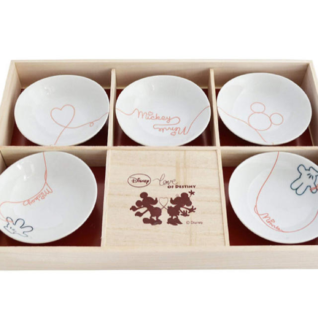 Disney(ディズニー)のディズニー ミッキー 「Love of Destiny」食器セット 小鉢揃  インテリア/住まい/日用品のキッチン/食器(食器)の商品写真