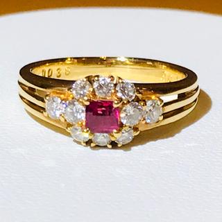 ポーラ(POLA)の☆K18  ルビー&ダイヤリング POLA☆(リング(指輪))