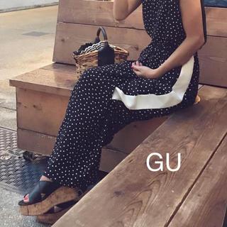 ジーユー(GU)のGU ジーユー ♡ コルクプラットフォームサンダル ブラック(サンダル)
