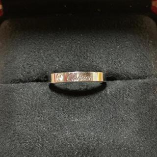 カルティエ(Cartier)のカルティエ   エングレーブドリング  プラチナ 1Pダイヤ(リング(指輪))