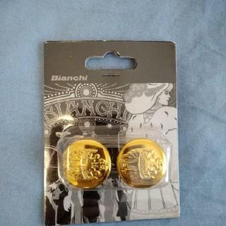 ビアンキ(Bianchi)のBianchi バーエンドキャップ ゴールド(パーツ)