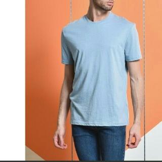 トップマン(TOPMAN)のシンプルTシャツ ライトブルー(Tシャツ/カットソー(半袖/袖なし))