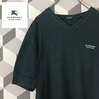 バーバリーブラックレーベル(BURBERRY BLACK LABEL)の【バーバリーブラックレーベル】ロゴワンポイント 刺繍ホースVNeck カットソー(Tシャツ/カットソー(半袖/袖なし))