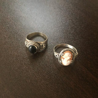 Vintage Ring onyx cameo(リング(指輪))