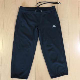 アディダス(adidas)のアディダス adidas スパッツ S 黒 レギンス ひざ下丈 三本線 ヨガ(ヨガ)