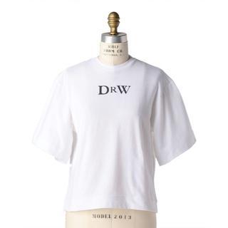 ドゥロワー(Drawer)の19AW DRAWER プリントエンブレムTシャツ 白 1(Tシャツ(半袖/袖なし))