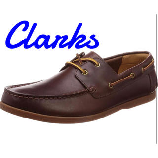 Clarks - Clarks 本革 デッキシューズ 26.5cm 8.5 モーベンセイル