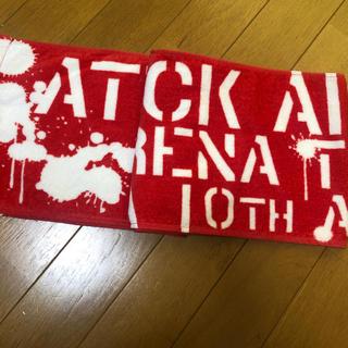 トリプルエー(AAA)のAAA 10th  タオル 赤(タオル)