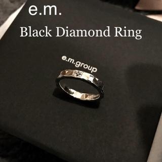イーエム(e.m.)のe.m. 梅田店限定 ブラックダイヤモンド リング #19(リング(指輪))