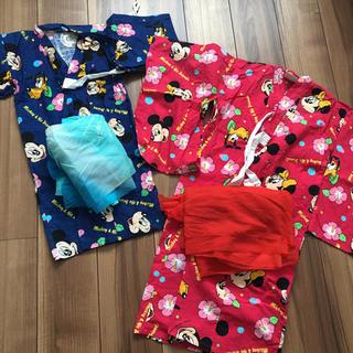 Disney - 浴衣 ヴィンテージ ディズニー ミッキー ミニー プルート