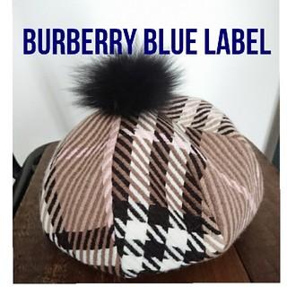 バーバリーブルーレーベル(BURBERRY BLUE LABEL)のtamagoccipiece様専用 未使用 バーバリー ブルーレーベル ベレー帽(ハンチング/ベレー帽)