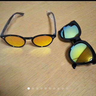 新品未使用♥ファッションミラーサングラス4点セット(サングラス/メガネ)