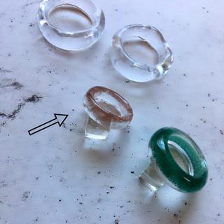 クリアリング  ⁎⁺˳✧༚ 約1〜3号 ピンキーリング(リング(指輪))
